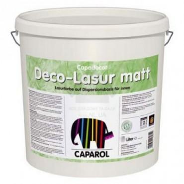 Интерьерная лазурь Capadecor Deco-Lasur matt/матовая 5л