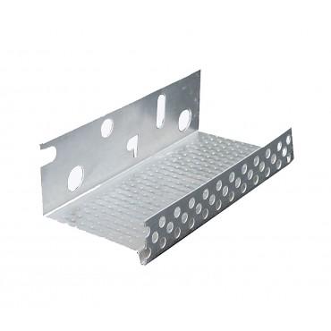 CAPATECT Профиль цокольный алюминиевый 100 мм., 2.5 м.п., толщина 0.8мм, шт.