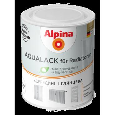 Водоразбавляемая эмаль для радиаторов Alpina Aqualack fur Radiator 0,75л