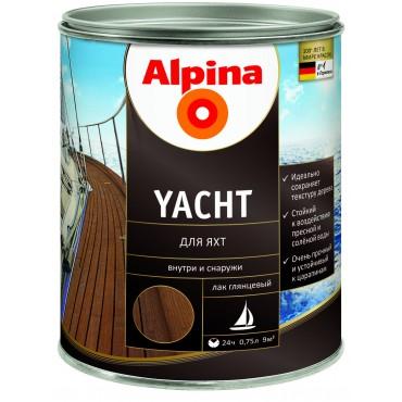 Лак алкидный для яхт Alpina Yacht 0,75л