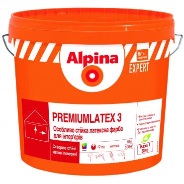 Интерьерная краска Alpina EXPERT Premiumlatex 3 E.L.F. B1 10л