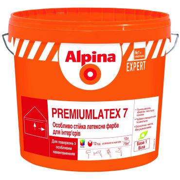 Интерьерная краска Alpina Premiumlatex 7 B1 10л