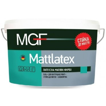 Краска латексная матовая MGF M100 Mattlatex 14 кг