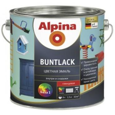 Высокоглянцевая алкидная эмаль Alpina Buntlack GL (галечно-серый) RAL7032 0,75л
