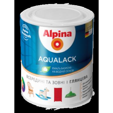 Водоразбавляемая колеруемая эмаль Alpina Aqualack GL /глянцевая 0,71 л