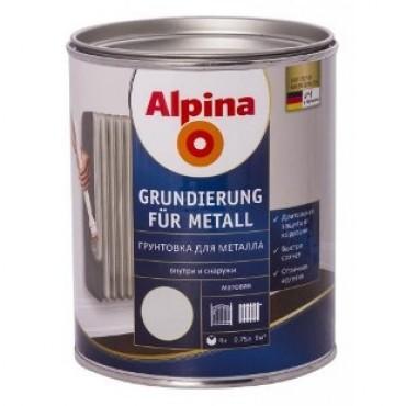 Антикоррозионная грунтовка Alpina Grundierung für Metall 0,75л