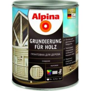Грунтовка для дерева Alpina Grundierung für Holz 0,75л