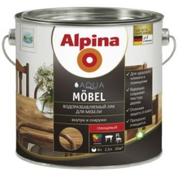 Лак акриловый для мебели Alpina Aqua Möbel глянец 0,75л